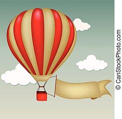 signe, chaud, balloon, vide, air