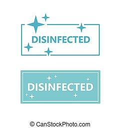signe, désinfecté, illustration, vecteur, icon-
