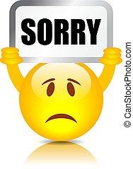 signe, désolé, emoticon