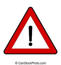 signe, danger, fond, illustration, trafic, vecteur