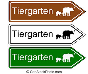 signe direction, zoo
