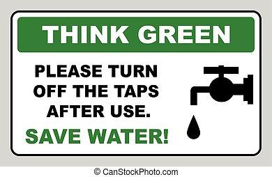 signe eau, sauver, vecteur, illustration