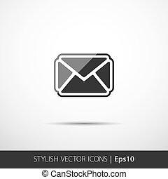 signe., enveloppe, symbole., courrier, message, icon.