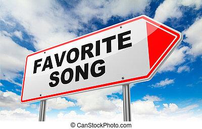 signe., favori, route, rouges, chanson