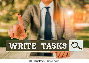 signe, fini, personne, table, conceptuel, business, temps, tenue, travail, téléphone., certain, morceau, être, séance, tasks., photo, projection, mobile, texte, assigné, souvent, dans, femme, écrire