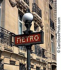 signe, france., paris, métro