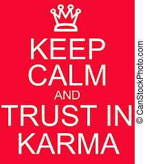 signe, garder, karma, confiance, rouges, calme