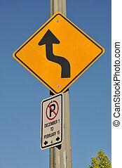 signe glissant route