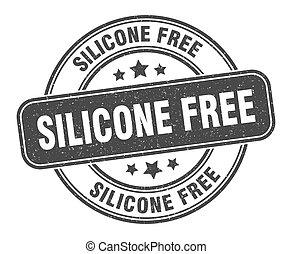 signe, grunge, silicone, label., rond, gratuite, stamp.