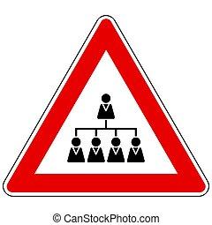 signe, hiérarchie, attention