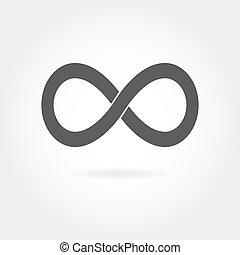 signe, icon., isolé, infinité, simple, mathématique, blanc