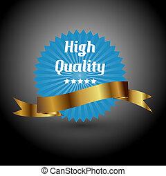 signe., illustration, élevé, vecteur, label., qualité