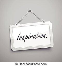 signe, inspiration, pendre