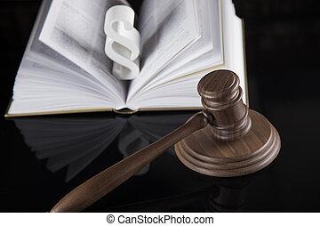 signe, justice, droit & loi, code, légal, paragraphe, livre, concept