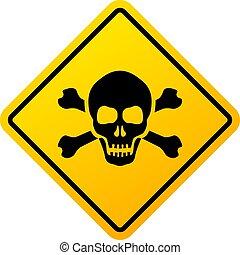 signe, loin, vecteur, garder, danger