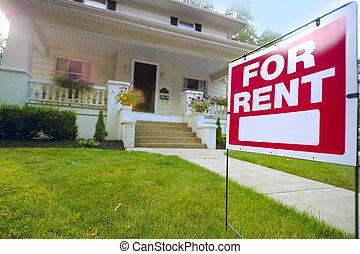 signe loyer, maison