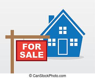 signe, maison, vente