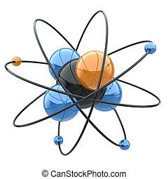 signe., molécule, résumé, ou, chimique, atome, concept.