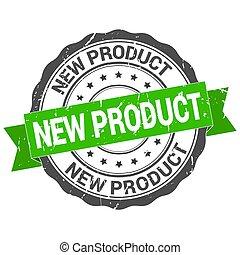 signe, nouveau, stamp., ruban, rond, grunge, produits, vendange, produit