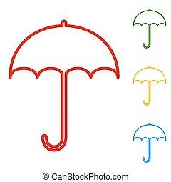 signe, parapluie, icône