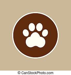 signe, patte, icon8, chien