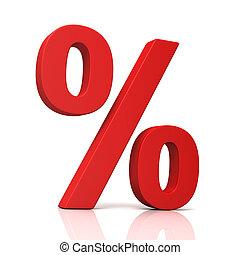 signe pourcentage, concept, illustration