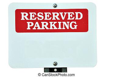 signe réservé, vide, stationnement