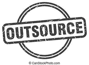 signe., rond, outsource, grunge, vendange, stamp.