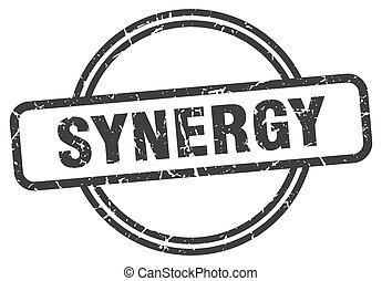 signe., rond, synergie, grunge, vendange, stamp.