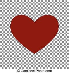 signe., rouge foncé, arrière-plan., cravate, transparent, icône