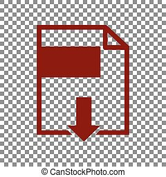 signe., rouge foncé, arrière-plan., fichier, téléchargement, transparent, icône