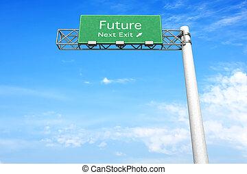 signe route, -, avenir