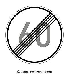 signe, route, permis, vitesse, fin, allemand, 278