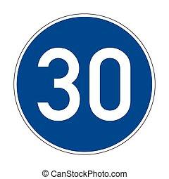 signe, route, vitesse, 275, minimum, allemand