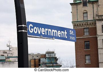 signe rue, gouvernement