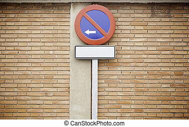 signe, rue, stationnement interdit