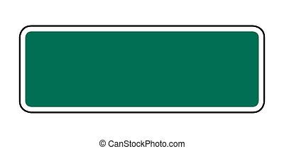 signe, rue, vert, vide, ou, route
