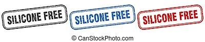 signe, silicone, set., gratuite, carrée, isolé, timbre
