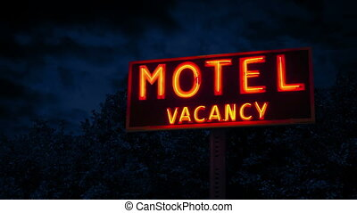 signe, soir, classique, arbres, motel