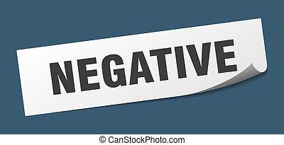 signe., sticker., négatif, éplucheur, carrée, negative.