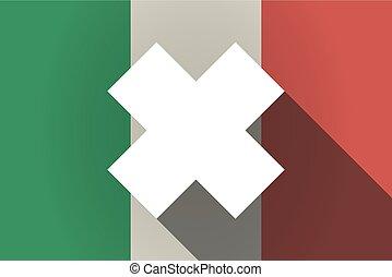 signe, substance, italie, ombre, agaçant, drapeau, long