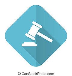 signe, symbole, tribunal, icône, verdict, plat, enchère