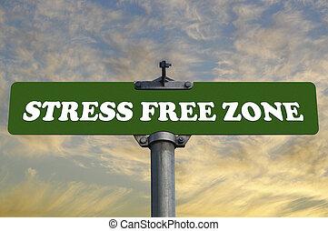 signe, tension libère, route, zone