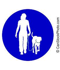 signe, trafic, chiens, gens