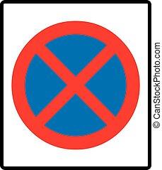 signe., vecteur, clearway, illustration