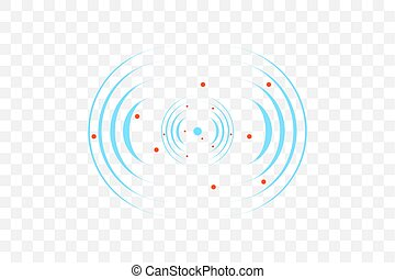 signe., vecteur, illustration., sonar, radar, vague, icône