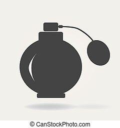 signe, vecteur, symbole, linéaire, concept, contour, icône, parfumerie, ligne