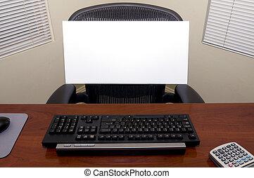 signe, vide, bureau