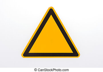 signe., vide, jaune, danger, avertissement, vide, attention, danger, triangulaire, autocollant, triangle, couleurs, noir