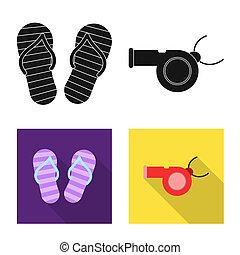 signe., web., collection, bitmap, conception, activité, natation, symbole, piscine, stockage